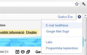 Gmail beállítása