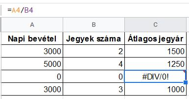 Google Sheets - IFERROR() fgv