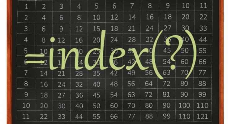 Excel index() függvény