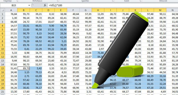 Excel tartomány kijelölések - egy-, és több tartomány kijelölése