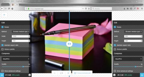 Fotó manipulációs Google .app - Squoosh.app