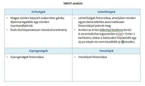 SWOT analízis
