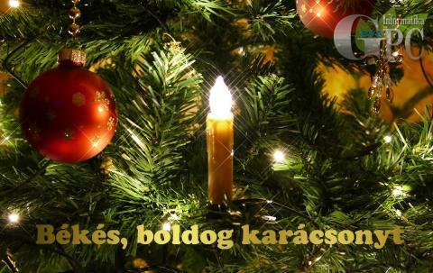 Boldog karácsonyt, kellemes ünnepeket!
