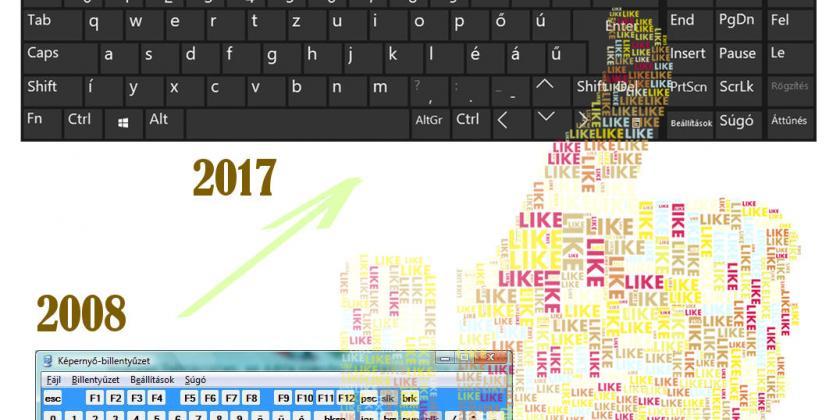 Képernyőbillentyűzet, ma 2017-ben, windows 10 alatt
