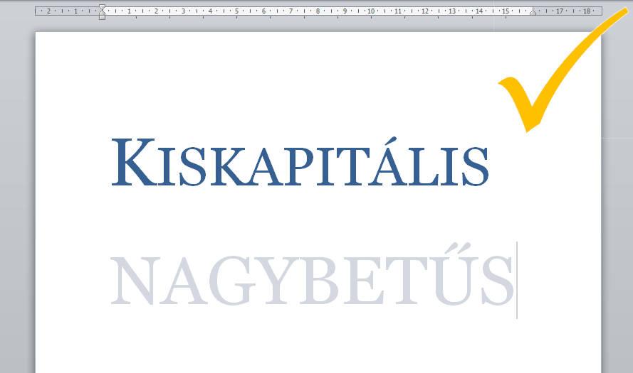Kiskapitalis-, nagybetűs szövegformázás